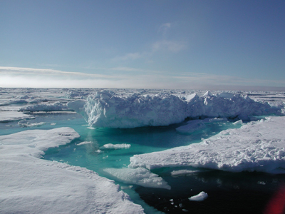 (c) AWI.de de: Eislandschaft in der Arktis en: Ice landsape in the arctic